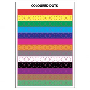 COLOURED DOTS 8mm or 10mm