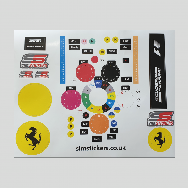 Sim Stickers, Button Boxes, Wheels, Keyboards, Sim Racing