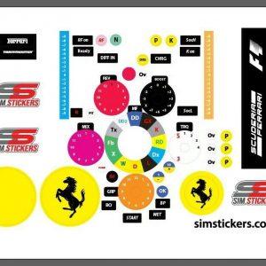 F1 Thrustmaster add on sticker set