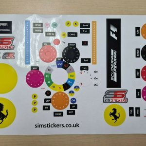 F1 Thrustmaster sticker set