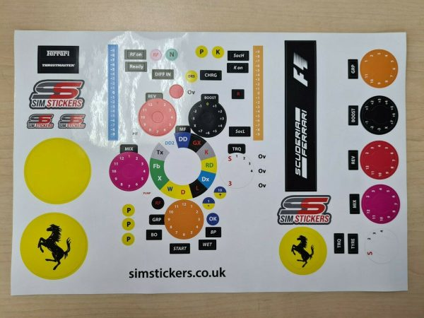 Thrustmaster F1 Sticker Set