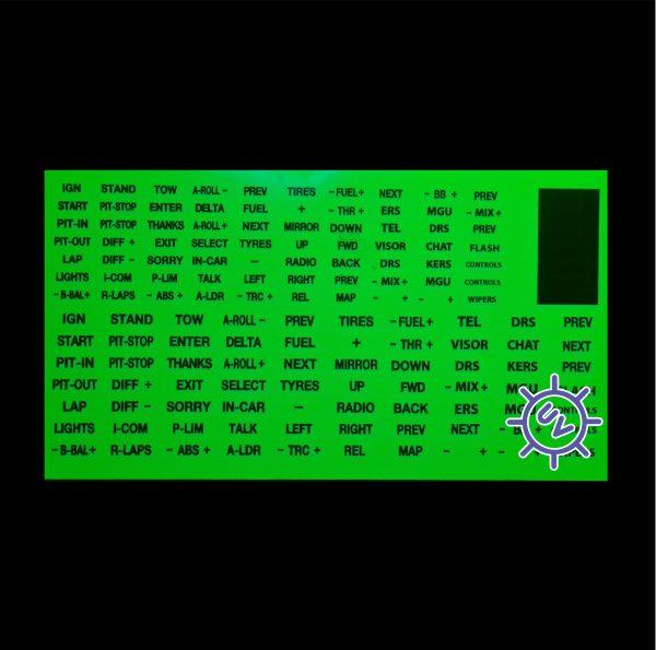 Fluorescent Green Sim Stickers