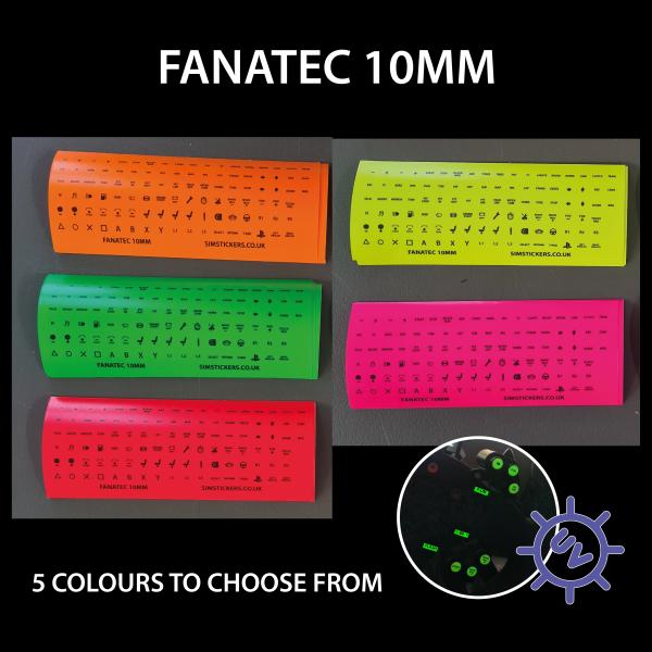 Fluorescent Sim Racing Stickers